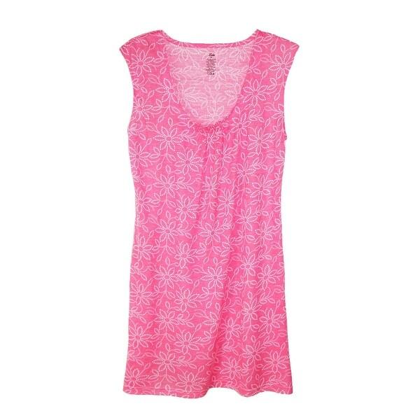 CTM® Women's Scoop Neck Nightgown Cap Sleeves