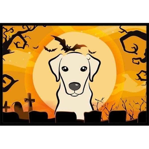 Carolines Treasures BB1780MAT Halloween Yellow Labrador Indoor & Outdoor Mat 18 x 27 in.