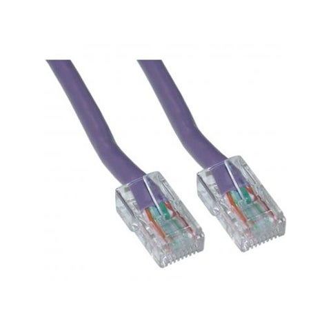 Offex Cat5e Purple Ethernet Patch Cable, Bootless, 5 foot