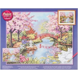 "Paint Works Paint By Number Kit 20""X16""-Japanese Garden"
