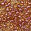 Toho Round Seed Beads 6/0 960 'Lt Topaz/Pink Lined' 8 Gram Tube - Thumbnail 0
