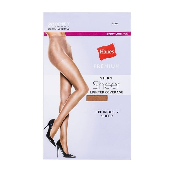 6d822379f27 Shop Hanes Women 1-Pair Tummy Control Premium Silky Sheer 20D Tights Nude S  - Small - Free Shipping On Orders Over  45 - Overstock - 25430138