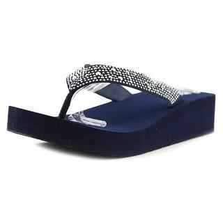 Yellow Box Africa Women Open Toe Suede Flip Flop Sandal