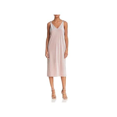 Nic + Zoe Womens Slip Dress Velvet Midi