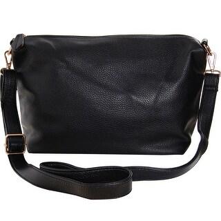 "Humble Chic Crossbody Bag - Vegan Leather Satchel Messenger Hobo Handbag Purse - 11"" x 14"" x 5"""