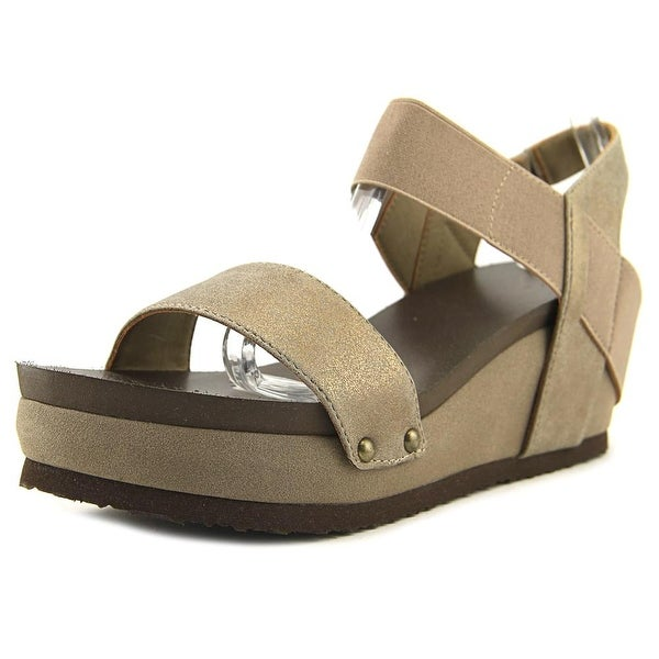 Hokus Pokus Tala Women Open Toe Synthetic Gold Platform Sandal