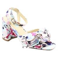 Betsey Johnson Womens Sb-Flirt Blush Multi Ankle Strap Heels Size 7.5