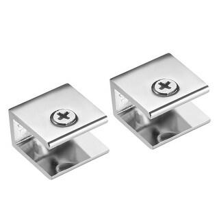 Chrome Shelf Bracket Glass Shelf Support 5-10mm thickness Shelves Pack of 4