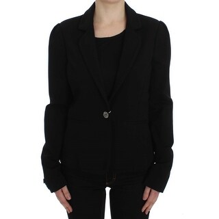 MARGHI LO' Black Stretch Blazer Jacket - it44-l