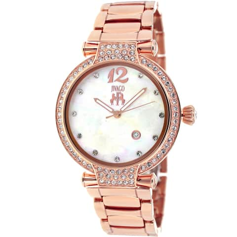 Jivago Women's Bijoux White MOP Dial Watch - JV2218
