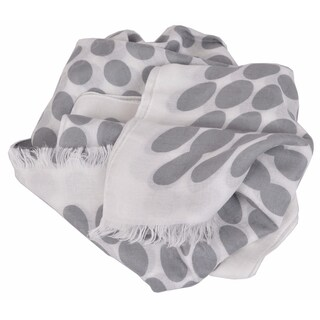 Gucci Women's 367220 Grey White Polka Dot GG Guccissima Modal Scarf
