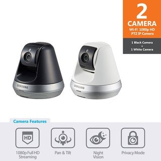 SNH-V6410PN-BW - Samsung 1080p Full HD Wi-Fi Pan & Tilt IP Camera (Black & White Bundle Package)