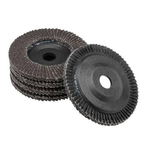 4 Inch Flap Disc 60 Grits Grinding Wheels Sanding Discs Abrasive Papers 5 Pcs