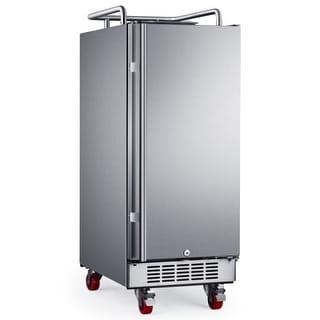 EdgeStar BR1500OD 15 Inch Wide Outdoor Kegerator Conversion Refrigerator with Fo
