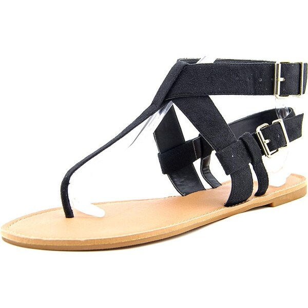 Chelsea & Zoe Faline Women  Open Toe Canvas Black Thong Sandal
