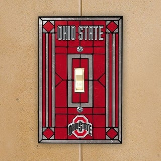 Ohio State Buckeyes Scarlet Art-Glass Switch Plate Cover