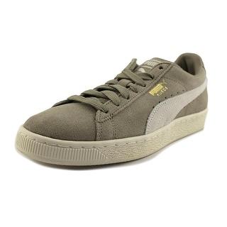 Puma Suede Classic +  Men  Round Toe Suede Gray Sneakers