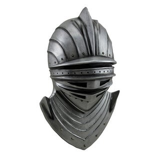 Noble Knight of the Realm Medieval Helmet and Bevor Wall Hanging 14 Inch