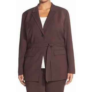 Classiques Entier NEW Red Burgundy Women's Size 20W Plus Belted Jacket
