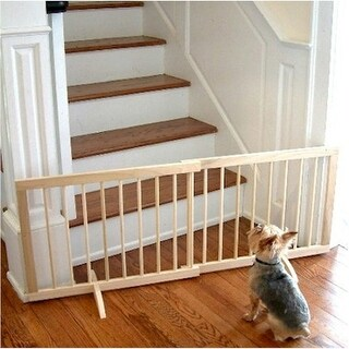 Step Over Pet Gate - Walnut