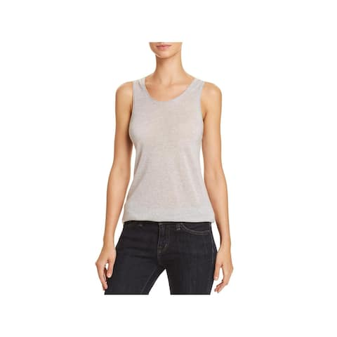 Theory Womens Tank Top Cashmere Double Trim