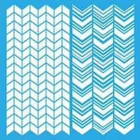 "Split Angles - Americana Decor Stencil 12""X12"""