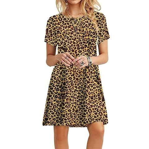 Women's Hot Sale Printed Short Sleeve Dress