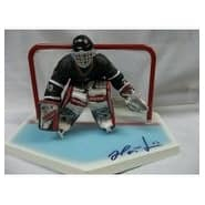 Signed Hasek Dominik base with figure and goal Missing the stick for the figure and no packaging fo