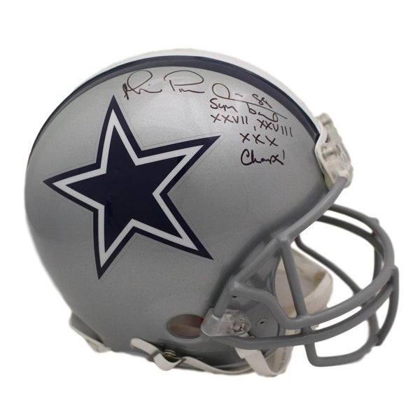 bc8d82101ef Shop Michael Irvin Autographed Dallas Cowboys Proline Helmet SB Champs JSA  - Free Shipping Today - Overstock - 22390192