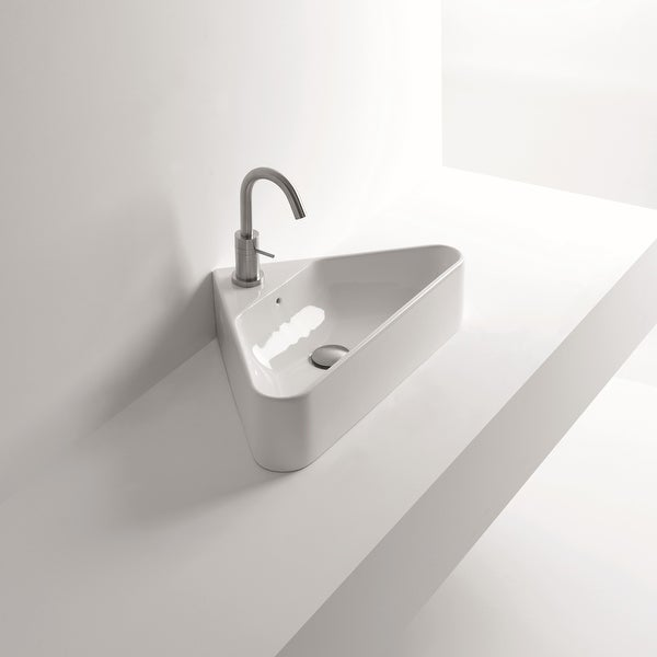 """WS Bath Collections Normal 04C 22-1/16"""" Ceramic Vessel Bathroom Sink - White. Opens flyout."""