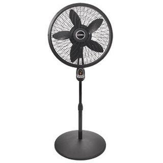 "Lasko 1843 18"" Cyclone Pedestal Fan With Remote Control - Black"