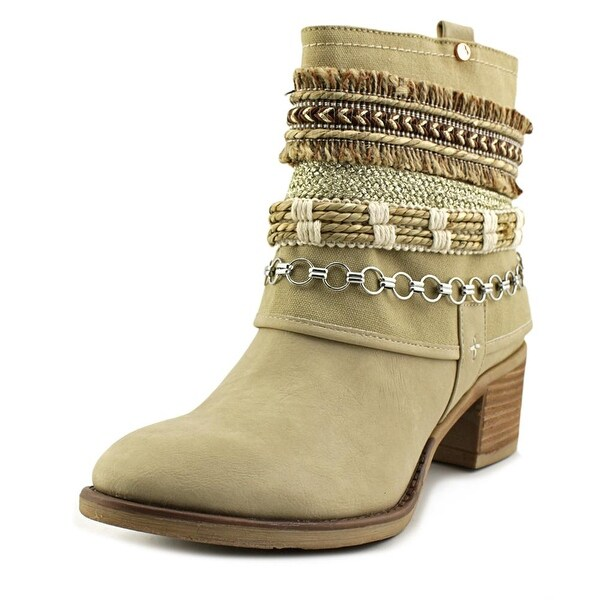 Bull Boxer DANNA Women Round Toe Suede Tan Ankle Boot