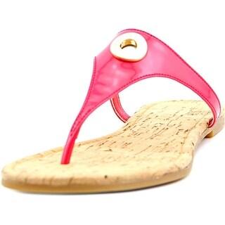 Cole Haan Tabitha Sandal II Women Open Toe Patent Leather Pink Thong Sandal