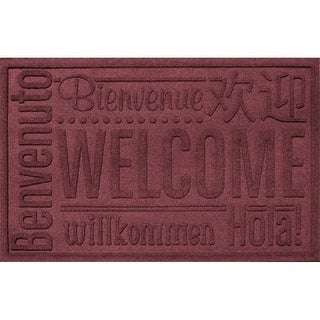 20356600023 Water Guard World Wide Welcome Mat in Bordeaux - 2 ft. x 3 ft.