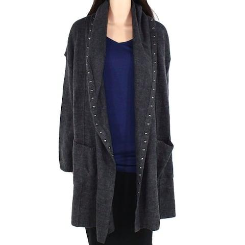 Style & Co Womens Sweater Plus Embellished Flyaway Cardigan