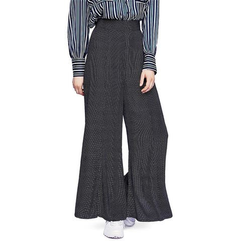 Free People Womens Polka Dot Casual Wide Leg Pants