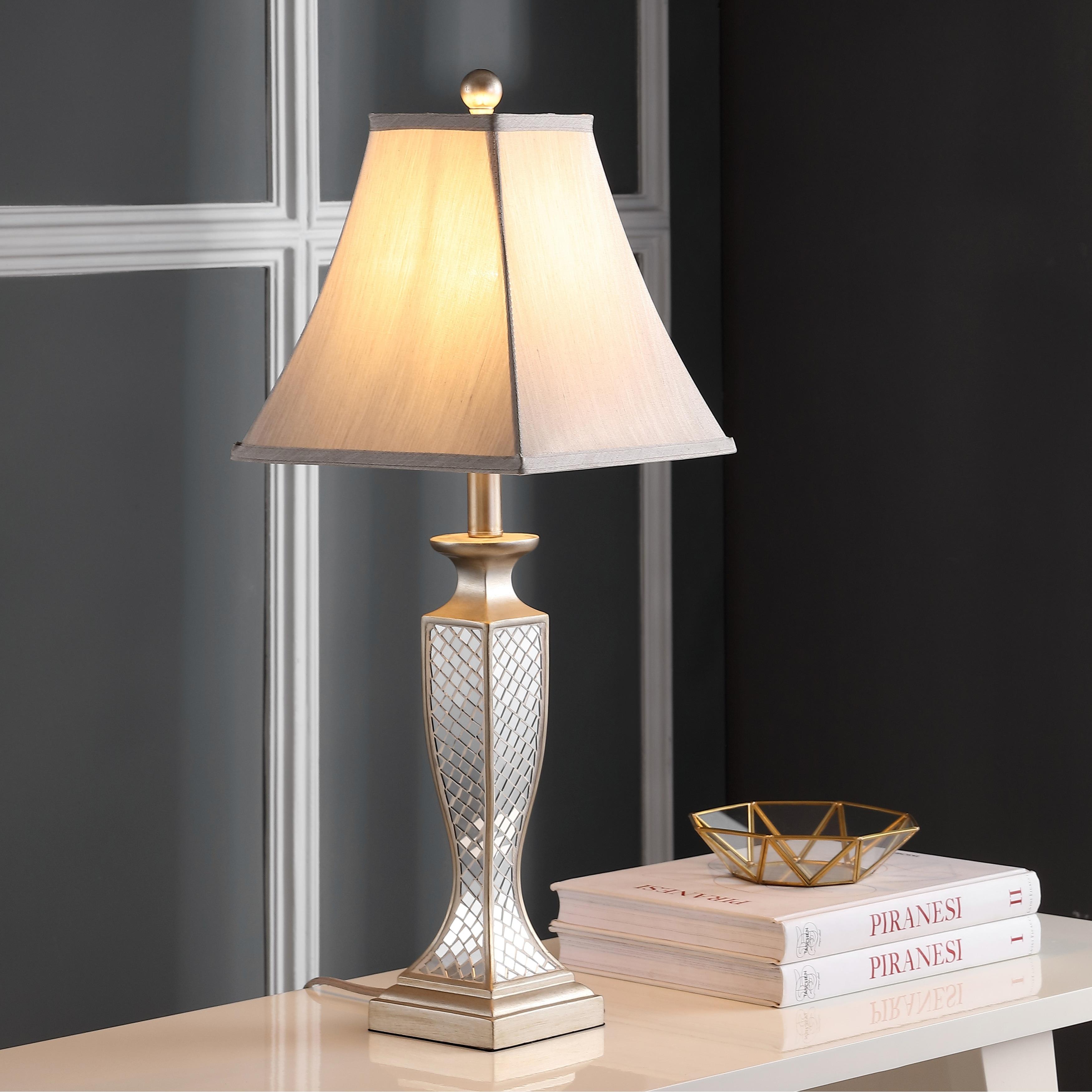 Safavieh Lighting 28 Inch Mirror Mosaic Table Lamp Set Of 2 11 X11 X28 On Sale Overstock 5517614