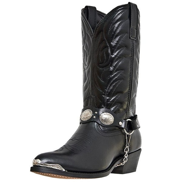 Laredo Western Boots Mens Tallahassee Silver Toe Plate Black