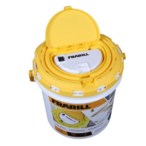 Frabill duel fish bait bucket with aerator built in