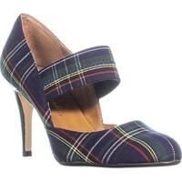 ann marino Tone Mary Jane Comfort Heels, Navy - 7.5 us