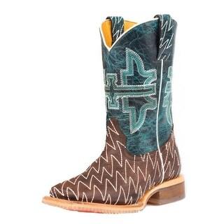 Tin Haul Western Boots Boys Thunderbolt Brown 14-018-0007-0723 BR
