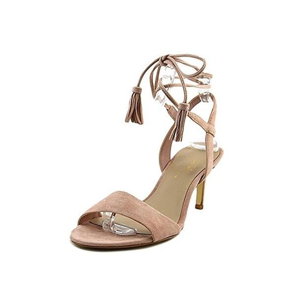 424 Fifth Womens Giovanna Slingback Heels Lace-Up Open Toe
