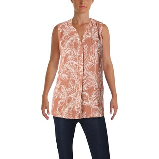 NYDJ Womens Blouse Ruched Pintuck Back