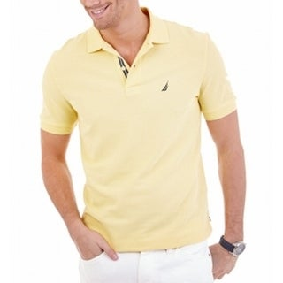 Nautica NEW Yellow Mens Size 2XL Polo Short-Sleeve Slim-Fit Shirt
