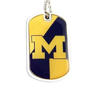 Michigan Wolverines Dynamic Dog Tag Necklace Charm Chain NCAA