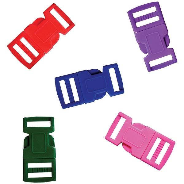 Parachute Cord Bracelet Buckles 15mm 5/Pkg-Assorted Colors