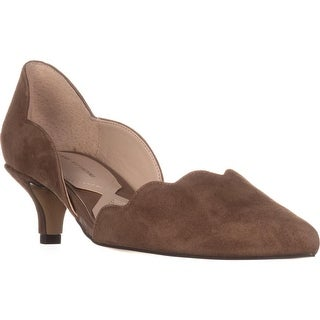 Adrienne Vittadini Serene Scallopped Kitten Pumps, Taupe (2 options available)