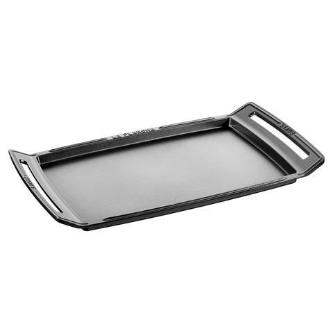 Staub Cast Iron 18.5 x 9.8-inch Plancha/Double Burner Griddle - 18.5 x 9.8-inch