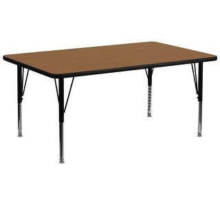 Delacora FF-XU-A3072-REC-T-P-GG 72 Inch Wide Steel Framed Wood Top Adjustable Ac