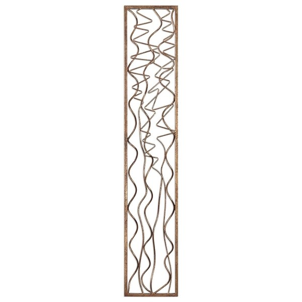 """60""""Gold Scribble Metal Wall Panel - N/A"""